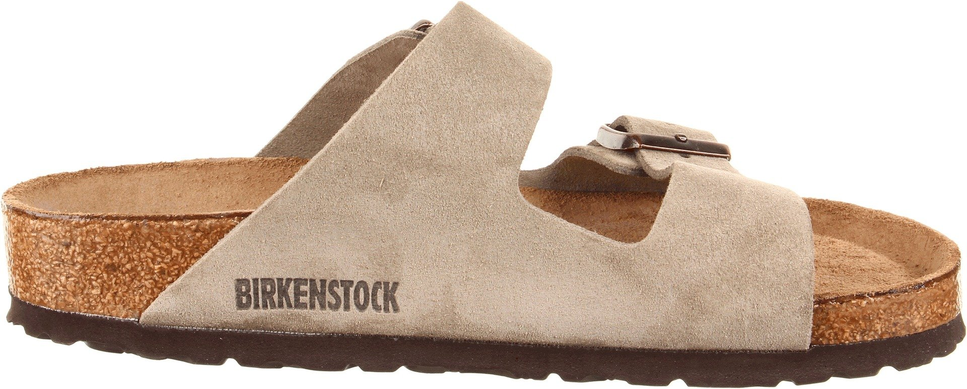 Birkenstock Unisex Arizona Taupe Suede Soft Foot Bed Sandals - 38 M EU / 7-7.5 B(M) US by Birkenstock (Image #6)