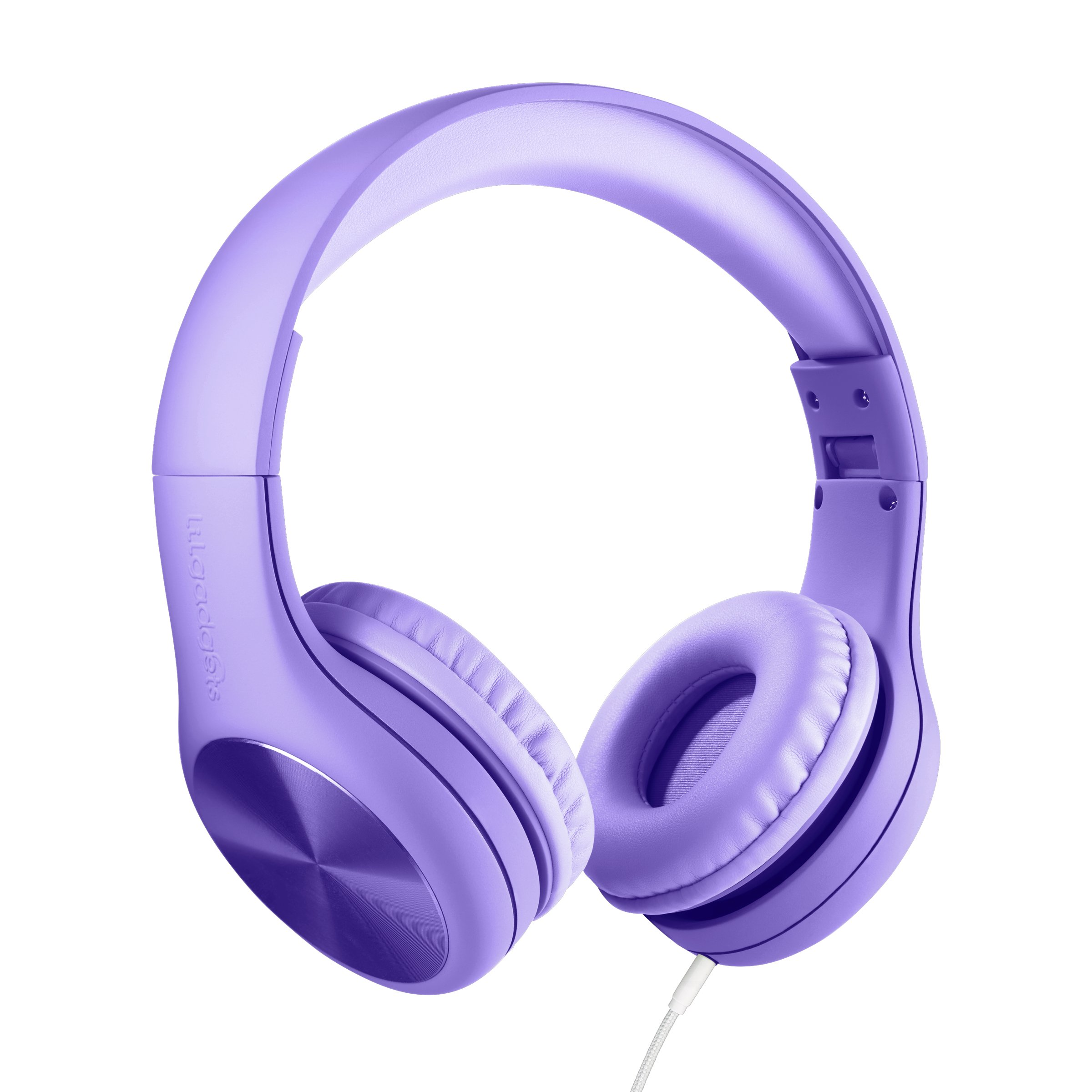 New! LilGadgets Connect+ Pro Premium Volume Limited Wired Headphones with SharePort for Children/Kids (Purple)