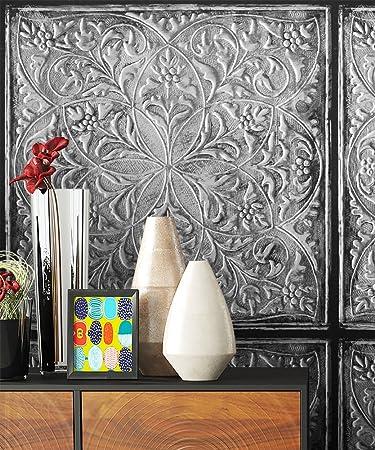 Steintapete Vliestapete Anthrazit Grau Schwarz Türkis Edel, Schöne Edle  Tapete Im Steinplatten Design, Antik