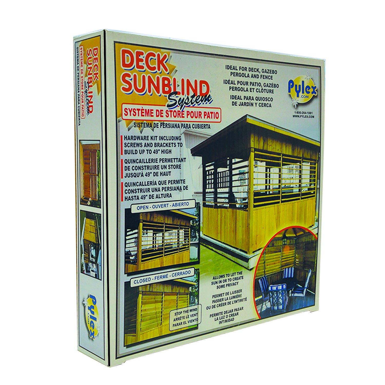 Pylex 11060 Deck Sunblind System, Black