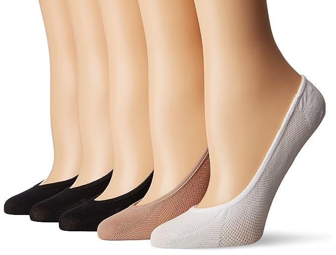 358fda338 Steve Madden Legwear Women s Mesh Footie Sock 5 Pack