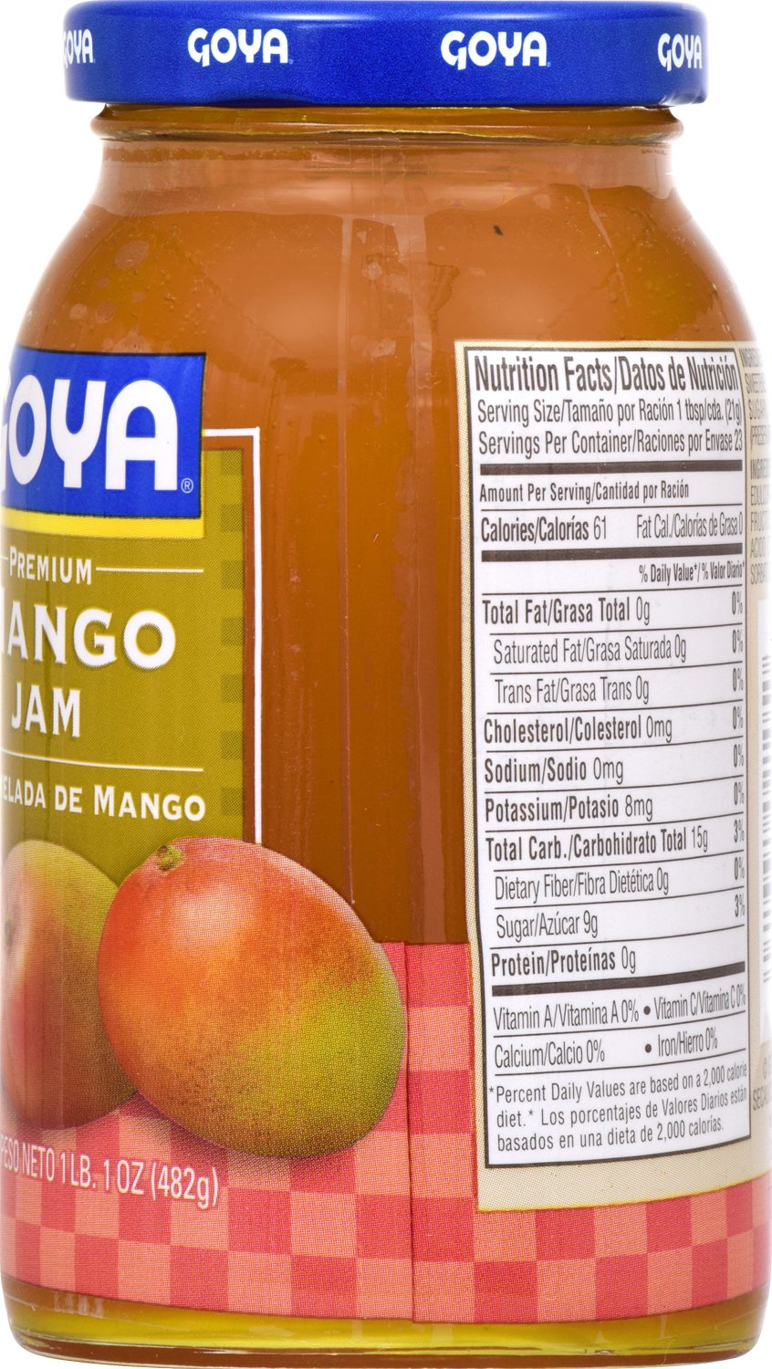 Amazon.com : Goya Foods Premium Mango Jam, 17 Ounce (Pack of 12) : Grocery & Gourmet Food