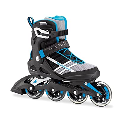 13a8ad253a8 Rollerblade Macroblade 84 Womens Adult Fitness Inline Skate - White/Cyan  Blue - 84 mm