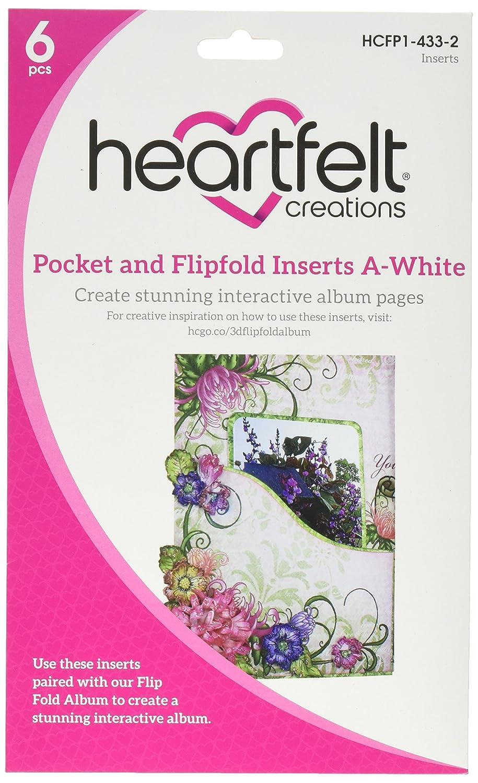 Heartfelt Creations Pocket /& Flipfold Inserts-e-white