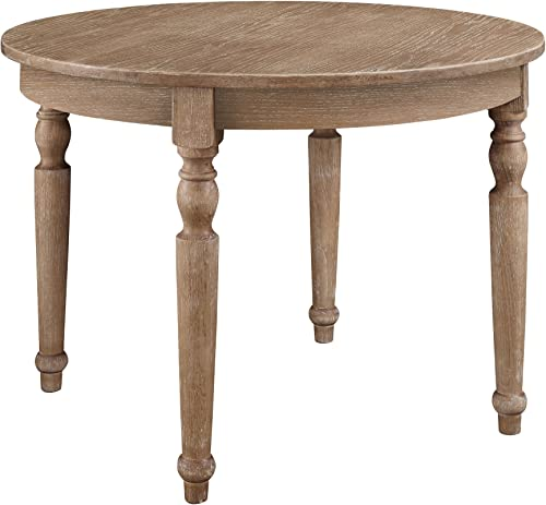 Linon Belleville Dark Natural Brown Round Bellville Table