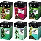 Stash Tea Green Tea Six Flavor Assortment, 18-20 Count Tea Bags in Foil (Pack of 6)