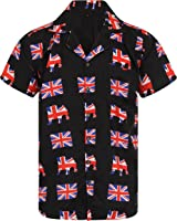 Hawaiian Shirt Union Jack Shirt Mens Football Great Britain England Loud Aloha Bulldog Queen Flag Hawaii Beer London Stag Party UK BBQ S M L XL XXL