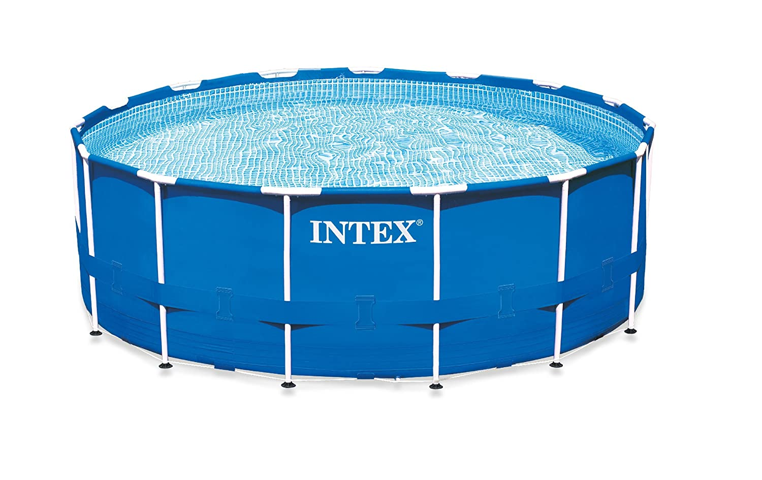 amazoncom intex metal frame pool set 15 feet x 42 inch sports outdoors - Intex Pools