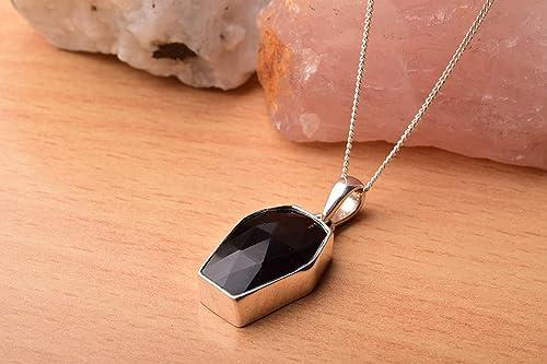 Dainty Black Onyx Sterling Silver Necklace Black Onyx Gemstone Necklace