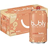 Bubly Sparkling Water, Peach, 12 Fl Oz (pack of 8)