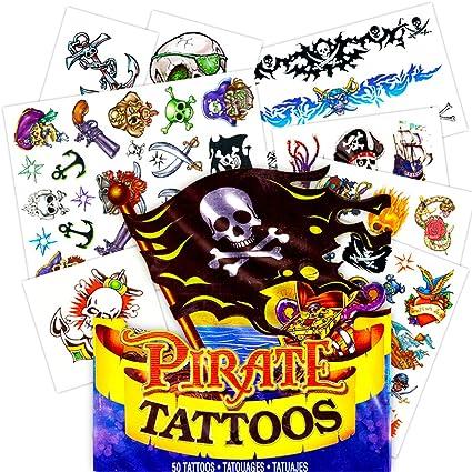 Tattoo Pirate Boy 5-7 years Age 6-8 years old