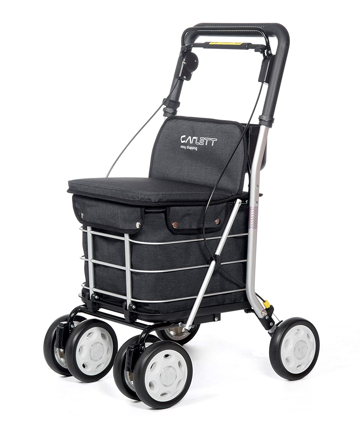 Amazon.com: Carlett Shopping Trolley Lett 800 Grey Textured ...