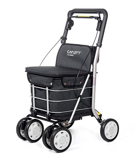 Amazon.com: Carlett Shopping Trolley Lett 800 Black Textured ...
