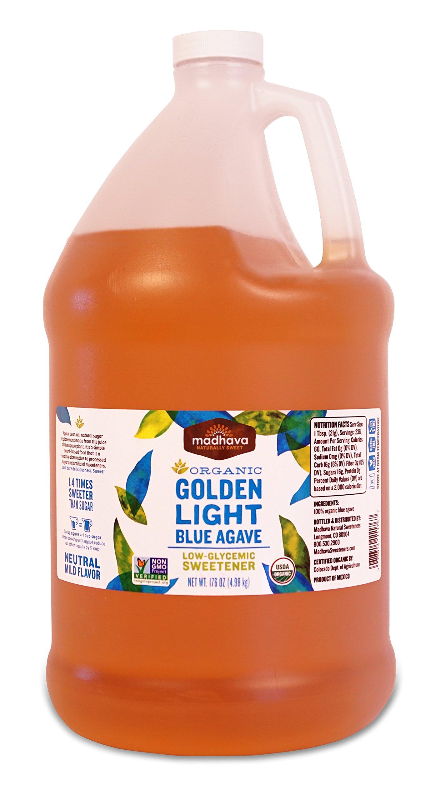 Madhava Honey Ltd Agave Nectar, Og, Light, 176-Ounce