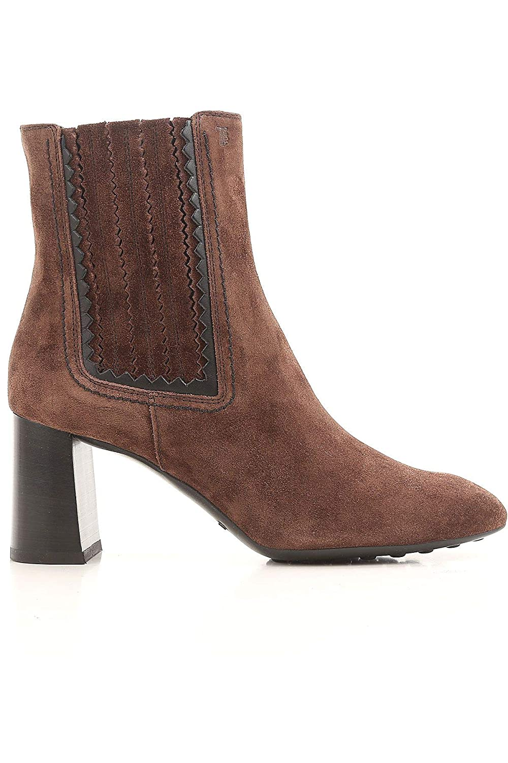 - Tod's Women's XXW0ZM0V520E9Q0ZIH Brown Suede Ankle Boots