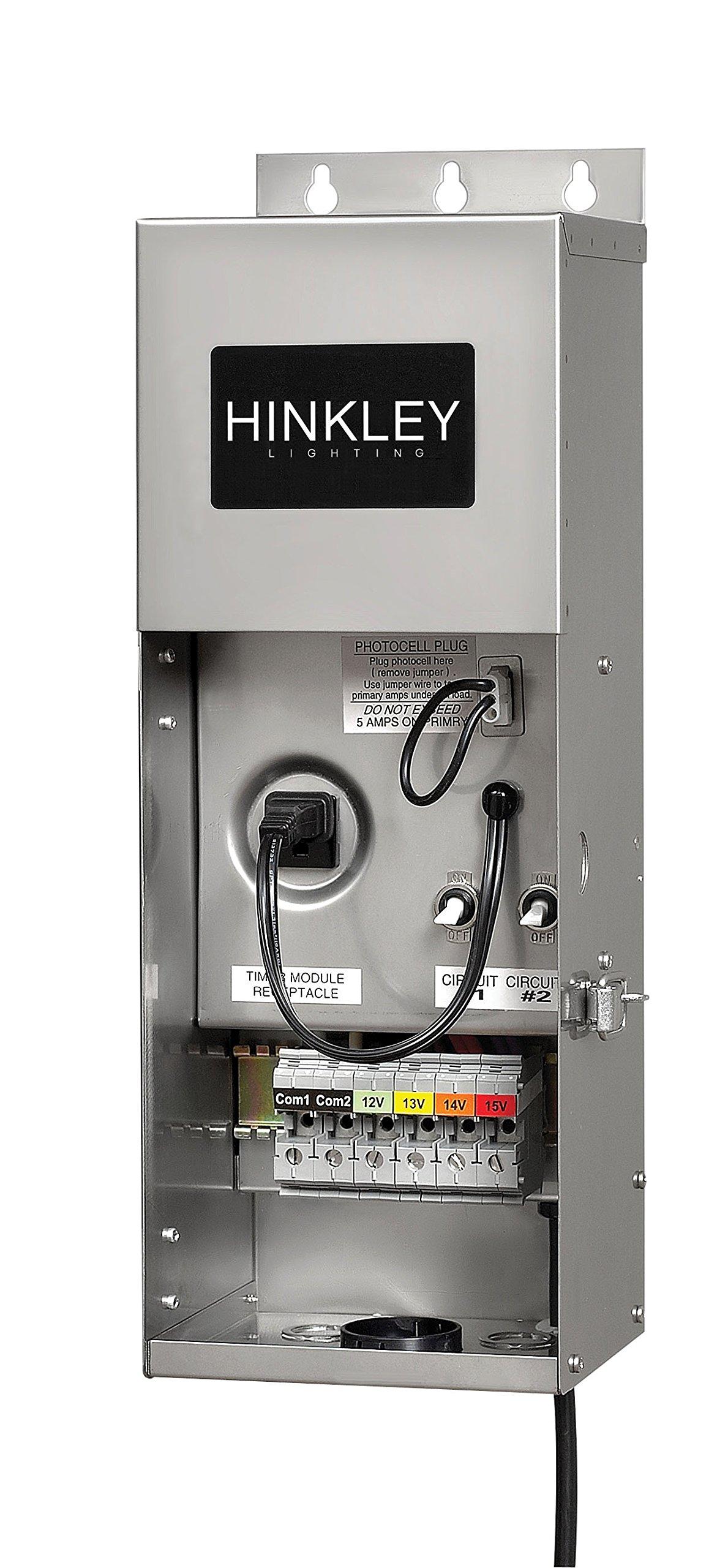 Hinkley Lighting 0600SS Pro Series Multi-Tap 12-15 Volt 600 Watt Transformer, Stainless Steel