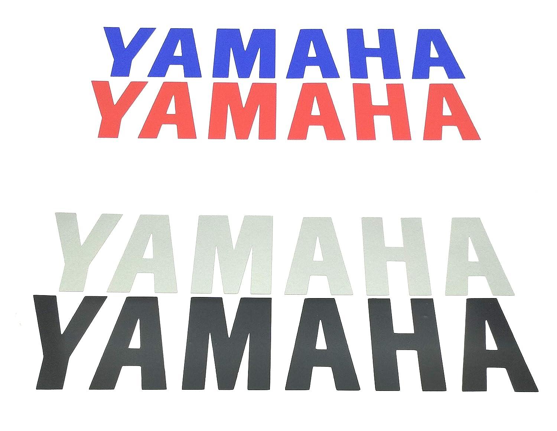 especial rotulacion con papel transportador incluido ALOBA Kit 2//4//6 pegatinas Vinilo YAMAHA 20CM varios colores disponibles