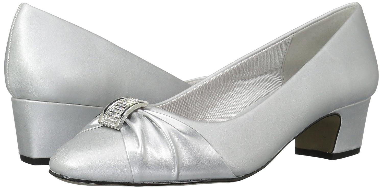 Easy Street B071W6RGRS Women's Eloise Dress Pump B071W6RGRS Street 9.5 2W US|Silver Satin/Silver With Easy Flex Dance Sole 7b533a