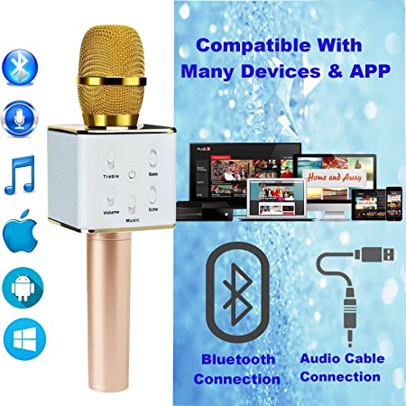8106ePuyiEL._SY450_ upgraded wireless karaoke microphone bluetooth speaker, techstone  at mifinder.co
