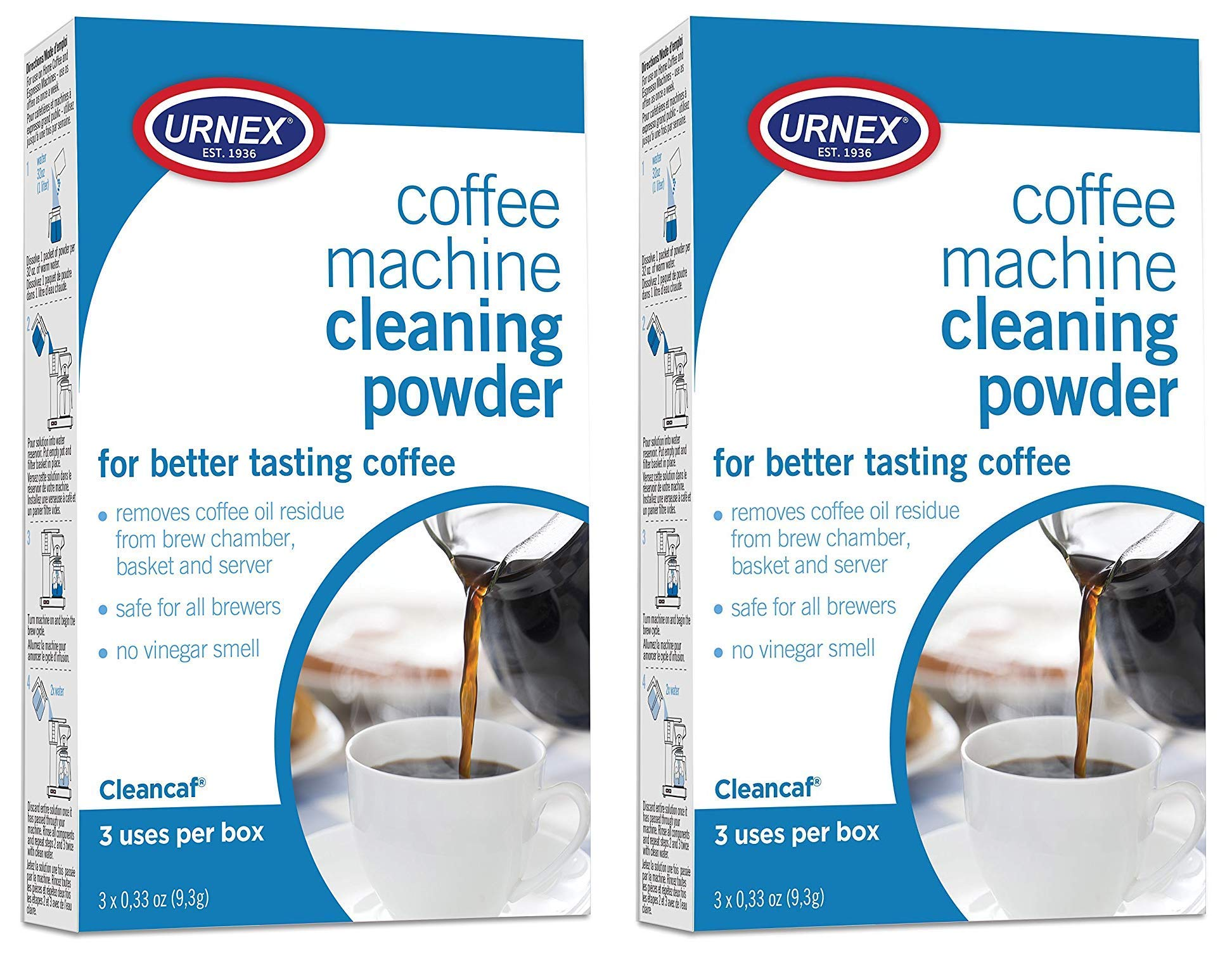 Urnex Coffee and Espresso Machine Cleaning Powder - 2 Pack product image