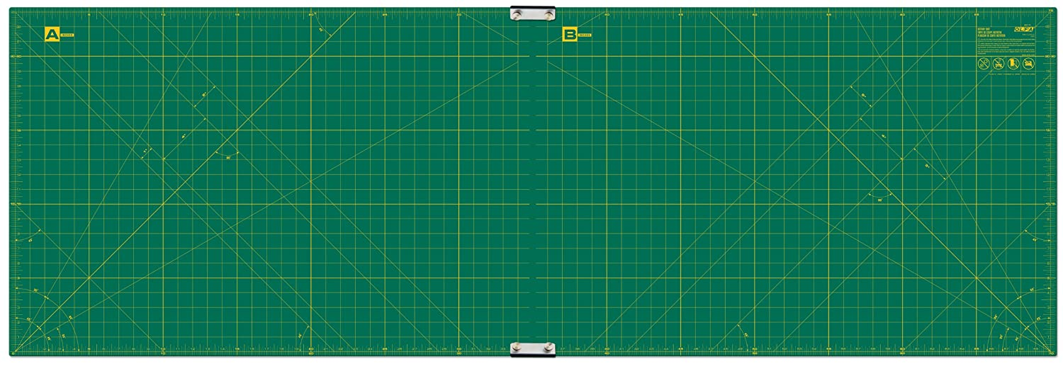 Olfa 23-Inch-by-70-Inch Gridded Cutting Mat Set Clipped 9893