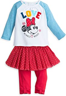 Disney Minnie Mouse T-Shirt And Leggings Set for Baby Size 12-18 MO Multi 40410575310019000352