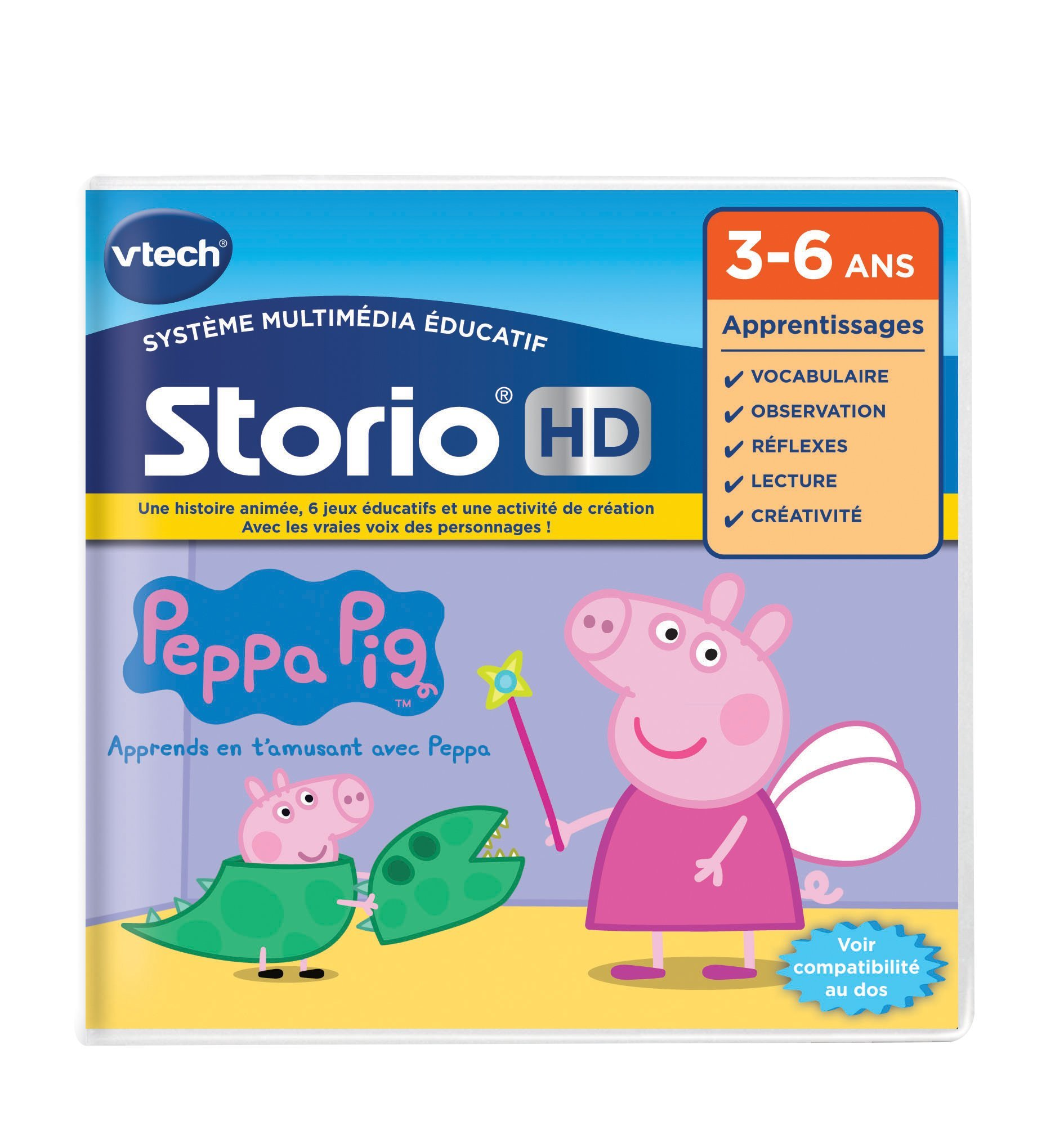 VTech 273405 Storio Peppa Pig HD Game - French Version