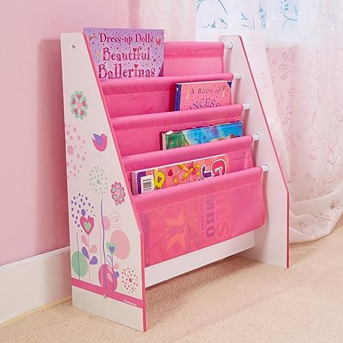 Blumen und Schmetterlinge, Bücherregal –Kinder Bücherregale für Mädchen