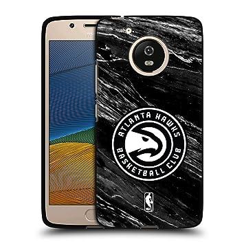 Oficial NBA Atlanta Hawks carcasa de suave gel negra para Motorola Teléfonos