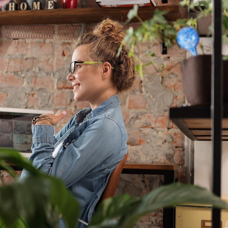 blau /Ø 6 cm Relaxdays 4 x Bew/ässerungskugel im Set Glas dosierte Bew/ässerung Pflanzen u Gie/ßhilfe B/üro Blumen Urlaub