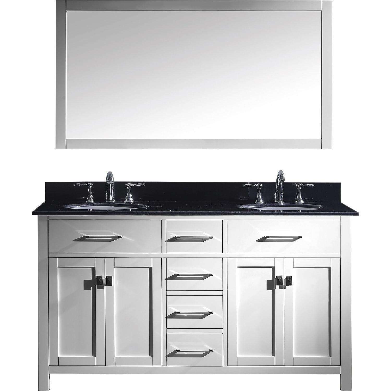 Outlet Virtu MD-2060-BGRO-WH-002 Caroline Double Bathroom Vanity Cabinet