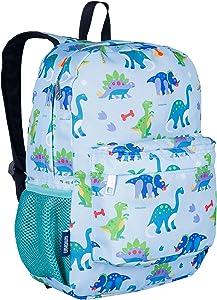 Wildkin 16 Inch Kids Backpack for Boys & Girls, 600-Denier Polyester Backpack for Kids, Features Padded Back & Adjustable Strap, Perfect for School & Travel Backpacks, BPA-Free (Dinosaur Land)
