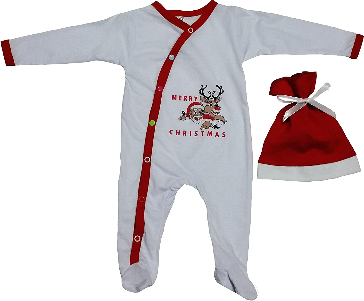Amazon.com: Baby First Christmas Outfit For Infants with Reindeer ...