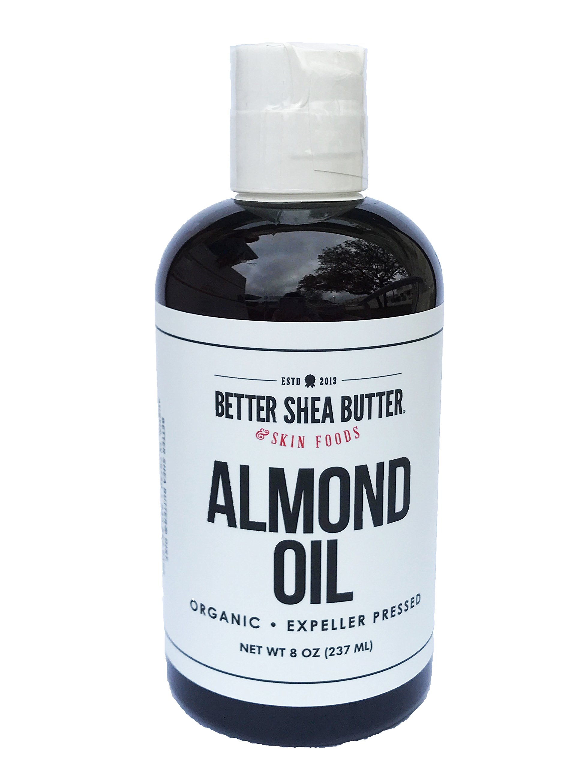 ORGANIC SWEET ALMOND OIL - 100% Pure and Unrefined - Use Alone on Hair, Face and Body - Massage Oil - Carrier oil for DIY skin care Recipes - 8 oz