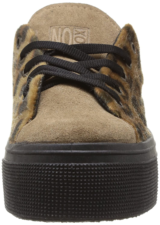 No Box Alma, Damen Damen Alma, Sneaker Braun - Marron (Leopard) 36bc01