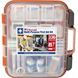 24/7 First Aid 336 Piece First Aid Kit, Orange