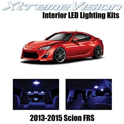 XtremeVision Interior LED for Scion FR-S FRS 2013-2015 (10 Pieces) Blue Interior LED Kit + Installation Tool: Automotive