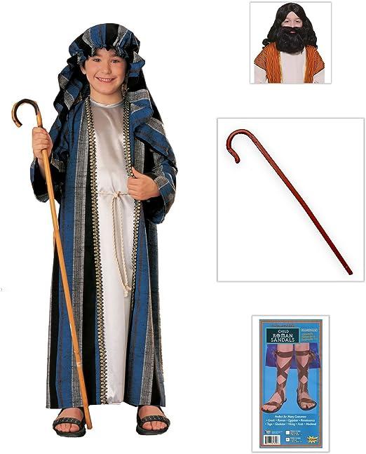 Amazon.com: Pastor Boy Costume: pastor, sandalias romanas (1 ...