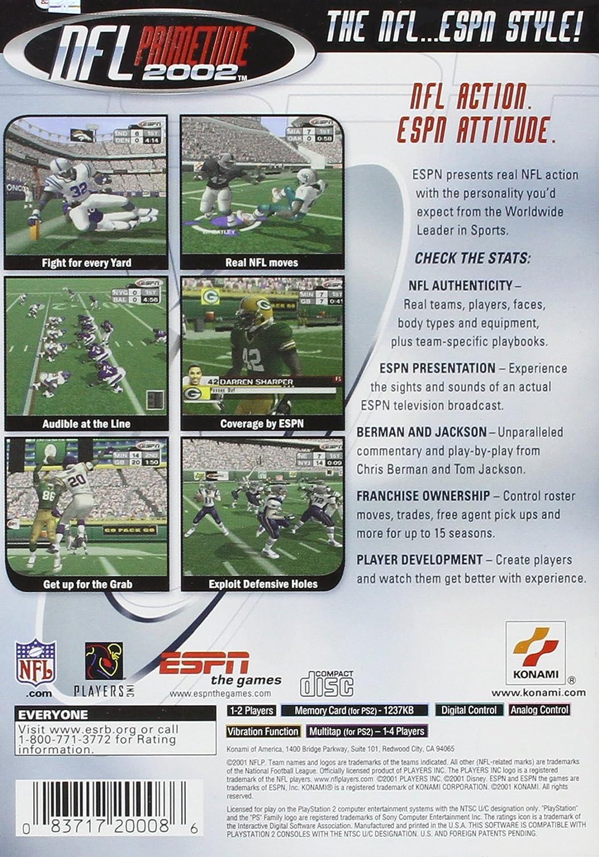 Amazon com: ESPN NFL Prime Time - PlayStation 2: Video Games