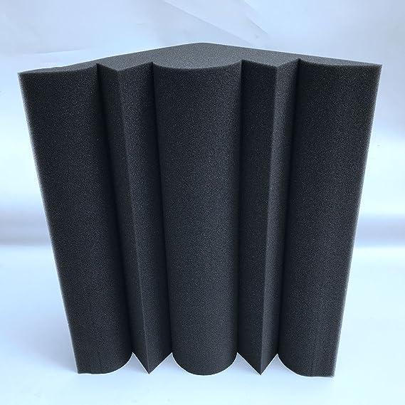 SODIAL 4 piezas Corner Bass Trap Panel acustico Studio Sound Absorption Foam 12 x 12 x 24cm: Amazon.es: Instrumentos musicales