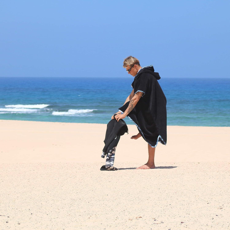 MIRAGE Surf Poncho//Toalla de Surf de Adulto 100/% Algod/ón Grueso con Capucha