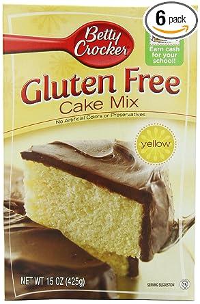 Betty Crocker Baking Mix Gluten Free Cake Mix Yellow 15 Oz Box Pack Of 6