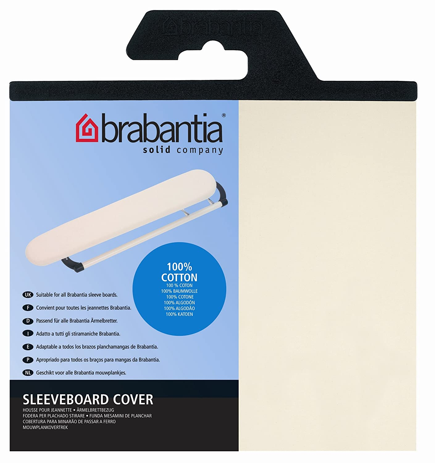 Brabantia Sleeve Board Cover 60 x 10 cm, Mixed Pack 204289 Ironing Board Covers Ironing table cover Laundry & Cleaning
