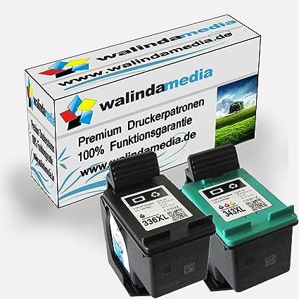 Walinda - Juego de cartuchos (HP 336 negro, HP 343 color ...