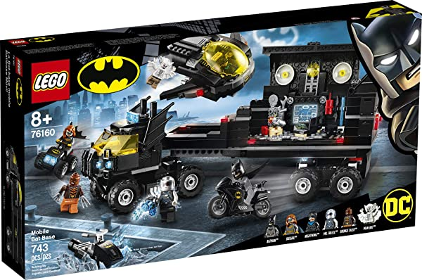 LEGO DC Mobile Bat Base building set toy for kids in package