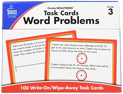 Task Cards: Word Problems, Grade 5: Amy Gamble: 9781483817156 ...