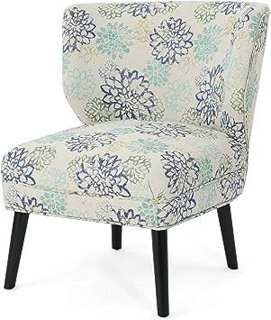 Modern Formal Living Room, Amazon Com Roger Modern Farmhouse Accent Chair Blue Floral Furniture Decor