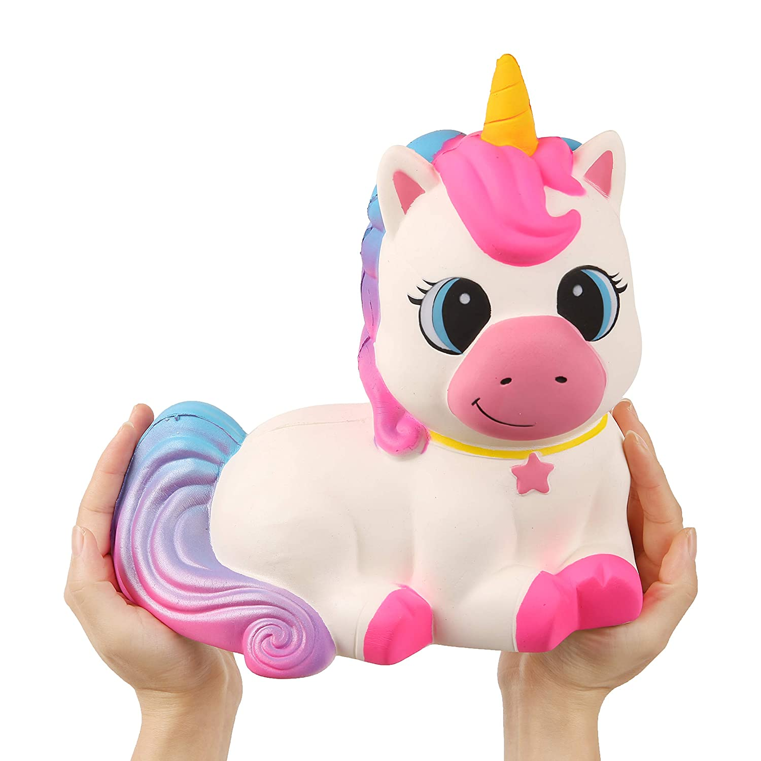 Anboor 9.1 Squishies Giant Unicorn Horse Jumbo Kawaii Soft Slow Rising Scented Huge Animal Stress Relief Kid Toys Decorative Props