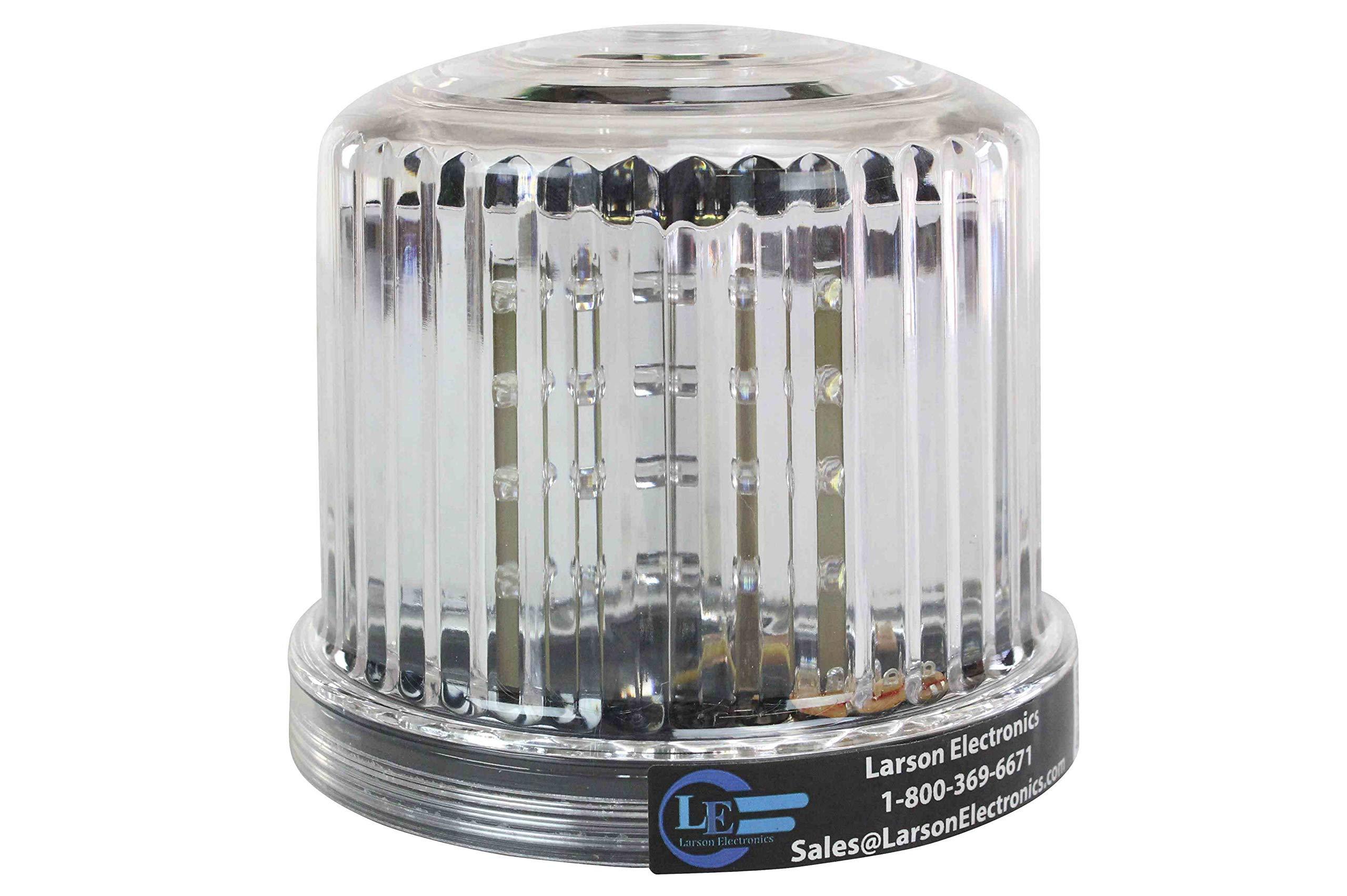 Larson Electronics White LED 360-Degree Battery Powered Beacon with Magnetic Base