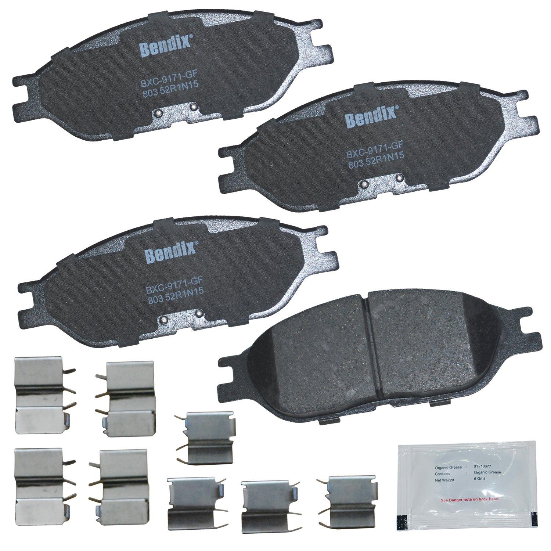 Bendix Premium Copper Free CFC803 Premium Copper Free Ceramic Brake Pad with Installation Hardware Front